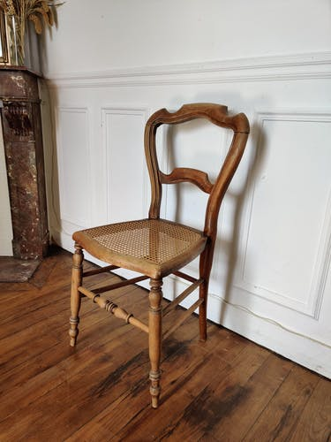 Chaise Louis Philippe cannée