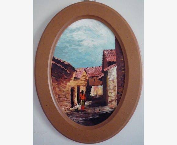Peinture De Tahar Ouabbas Algérie Village De Kabylie Papier