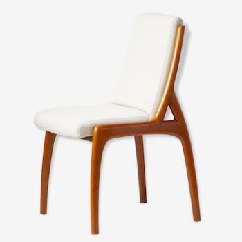 Superbe chaise scandinave en merisier massif 1980 vintage 80's Danish chair
