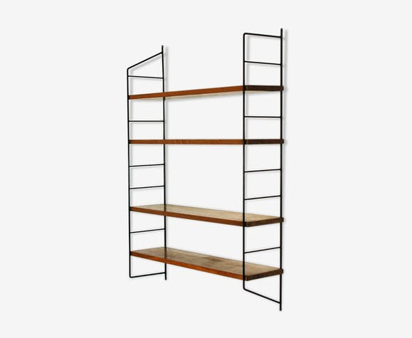 Metal and wood shelf 60