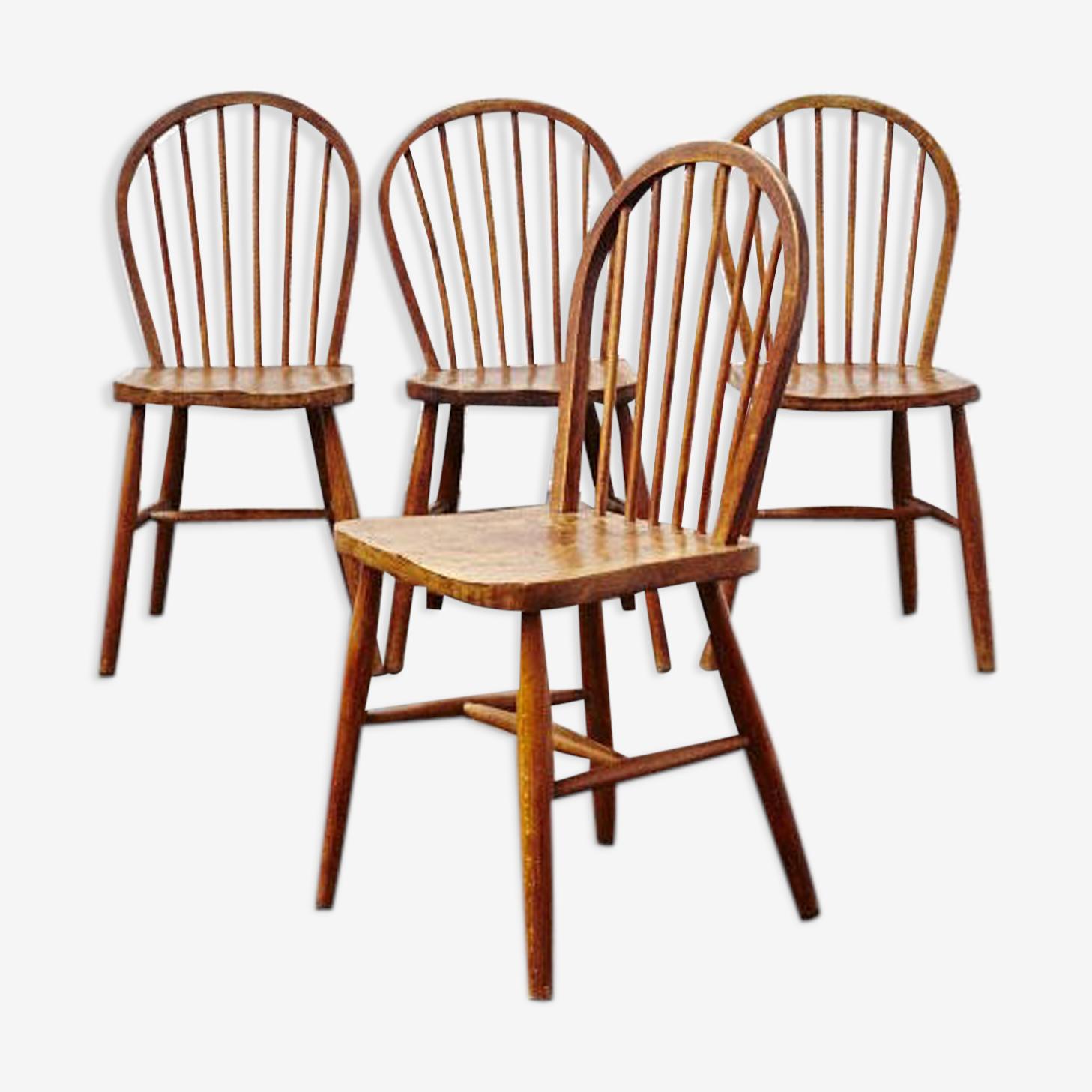Série de 4 chaises Ercol