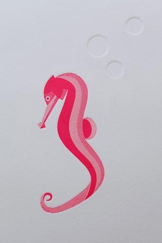 Gravure 2 couleurs hippocampe