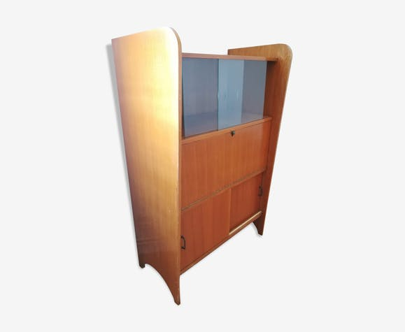 Scandinavian vintage design secretary with window and closet