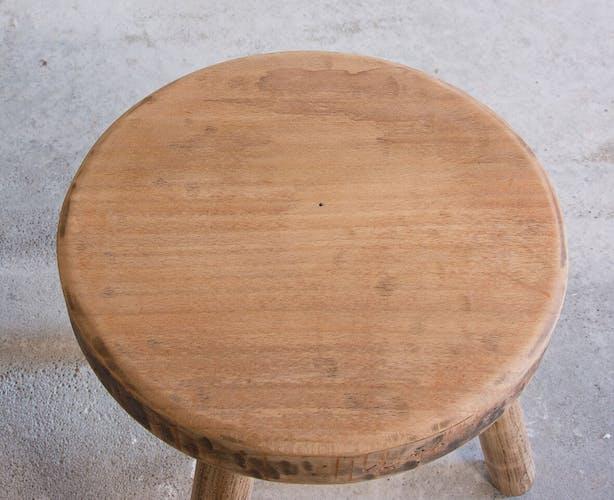 Tabouret bois tripode