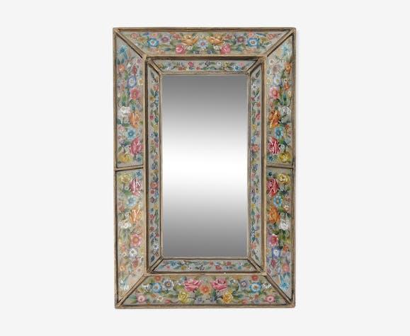 Glass with flower decoration 40x60cm
