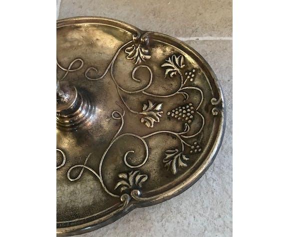 Ancien porte-parapluies en bronze doré