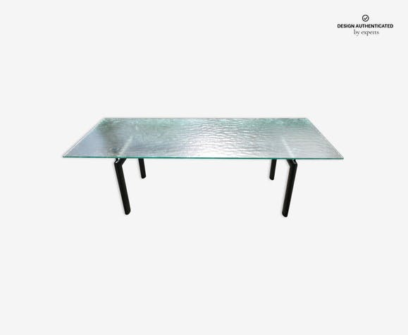 Le Corbusier LC6 table - glass and crystal - transparent - design ...