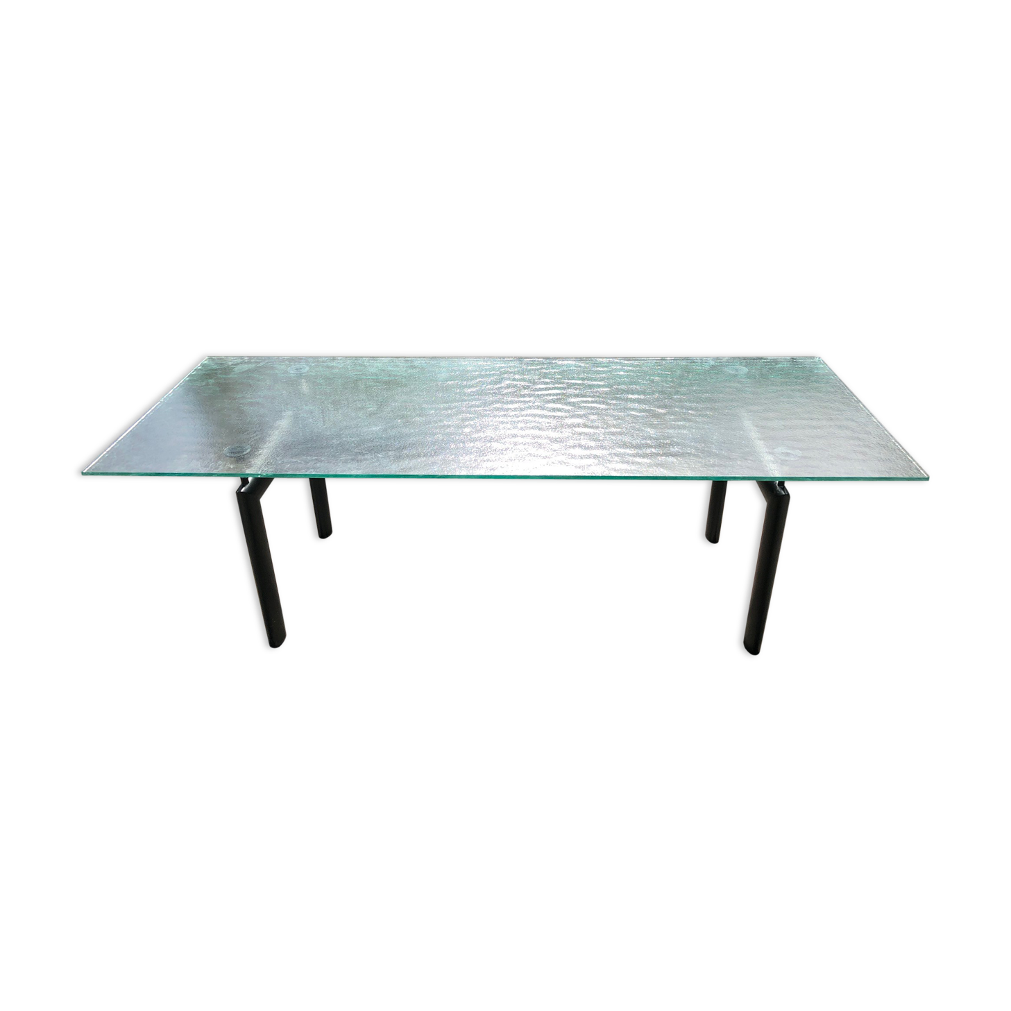 Le Corbusier LC6 Table   Glass And Crystal   Transparent   Design   R73TVmZ