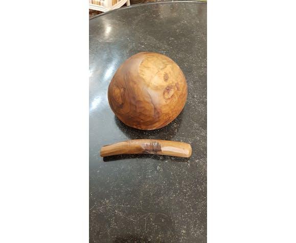 Mortier et pilon en bois