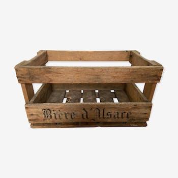 Caisse en bois Bière d'Alsace