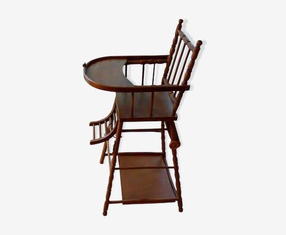 chaise haute pour b b en bois bois mat riau bois. Black Bedroom Furniture Sets. Home Design Ideas