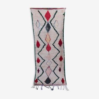Tapis marocain azilal  220 x 92 cm