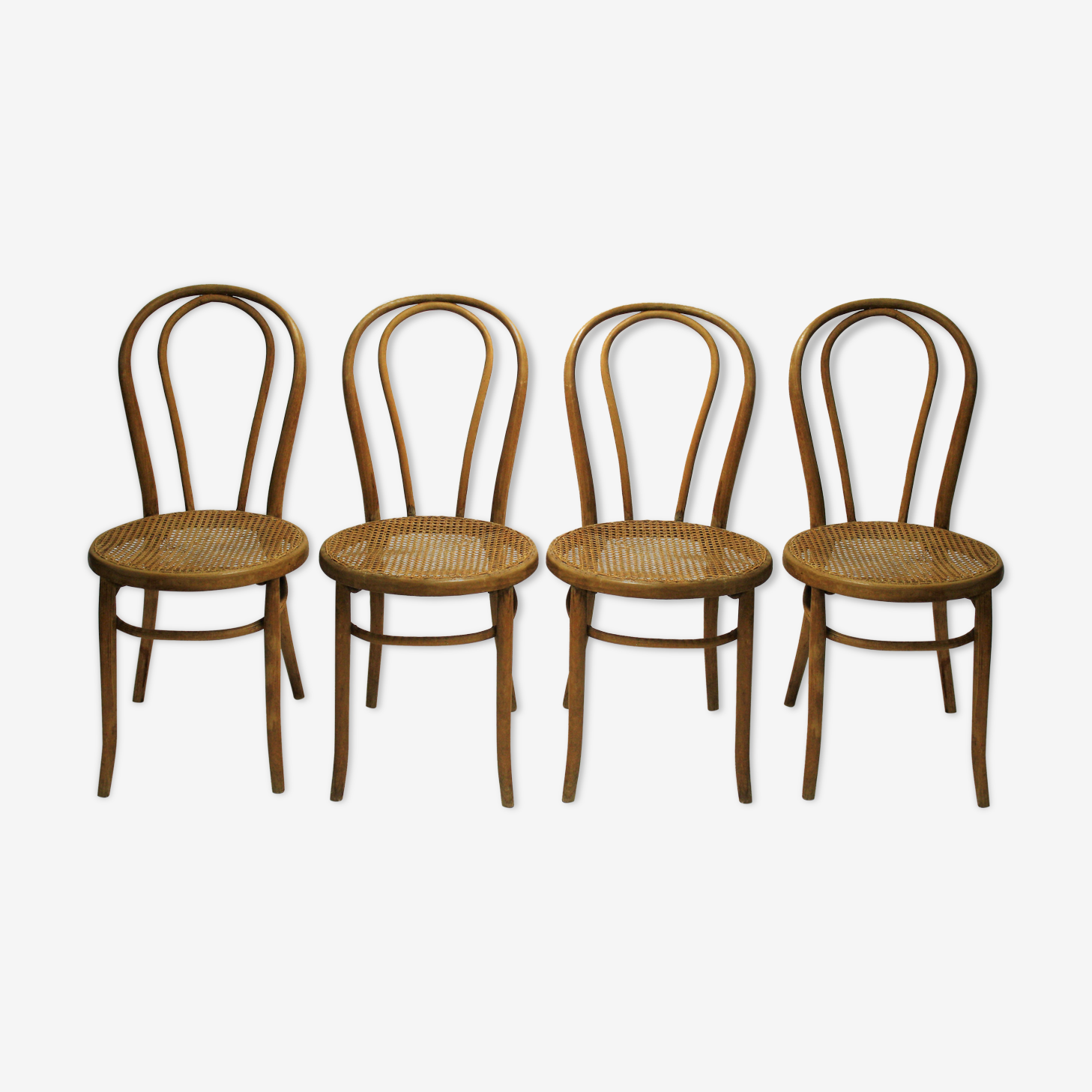 Thonet no 18 dining chairs, 1920