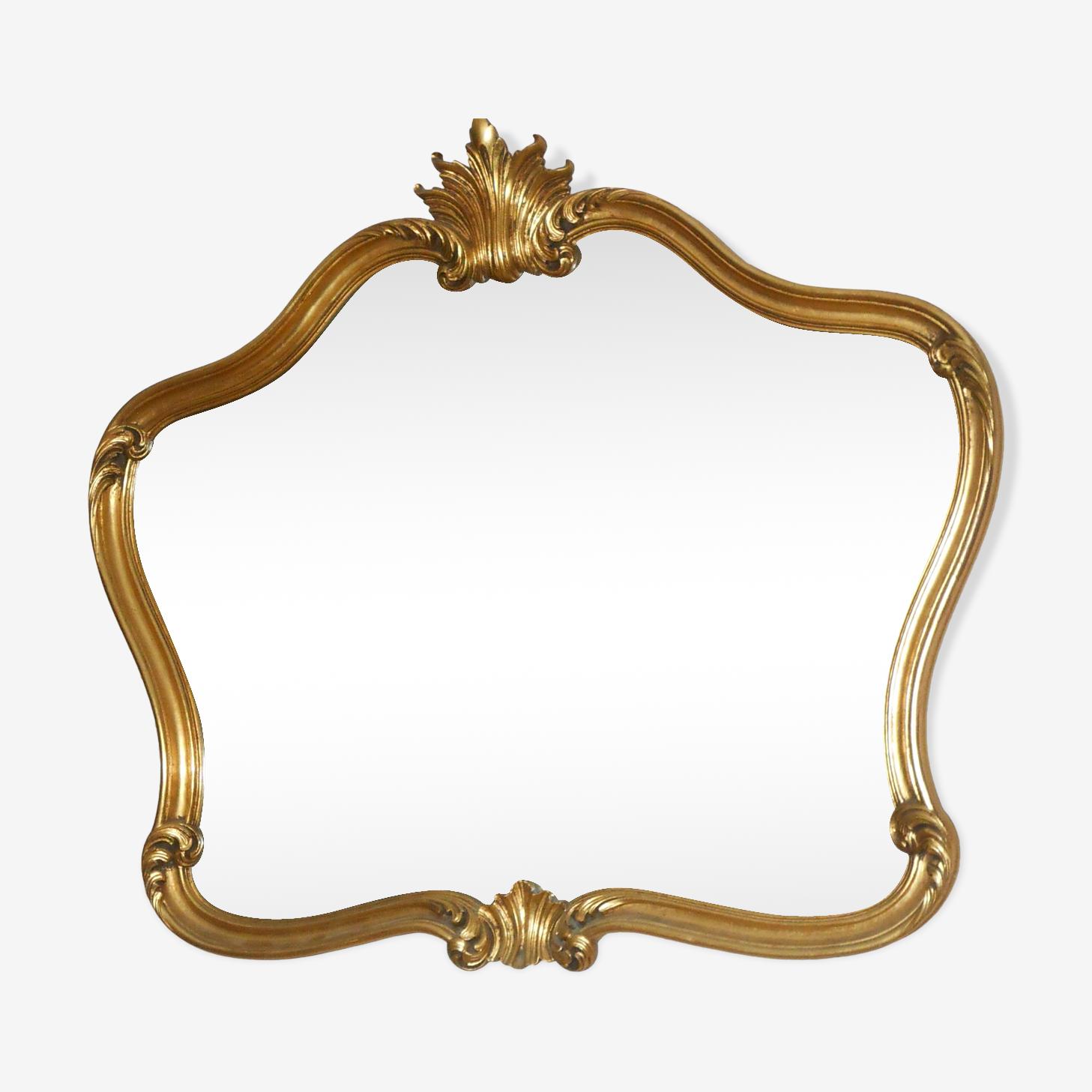 Miroir en bois doré style Louis XV 79x69cm