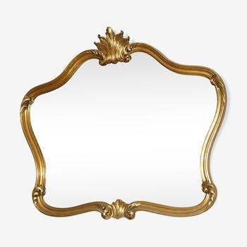 Mirror Golden wooden style Louis XV 79x69cm