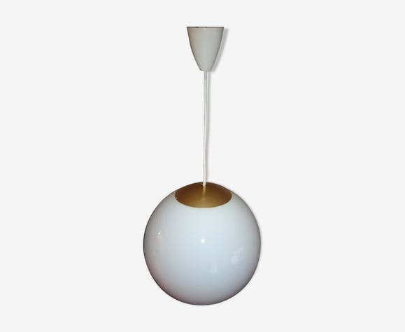 Suspension globe verre blanc