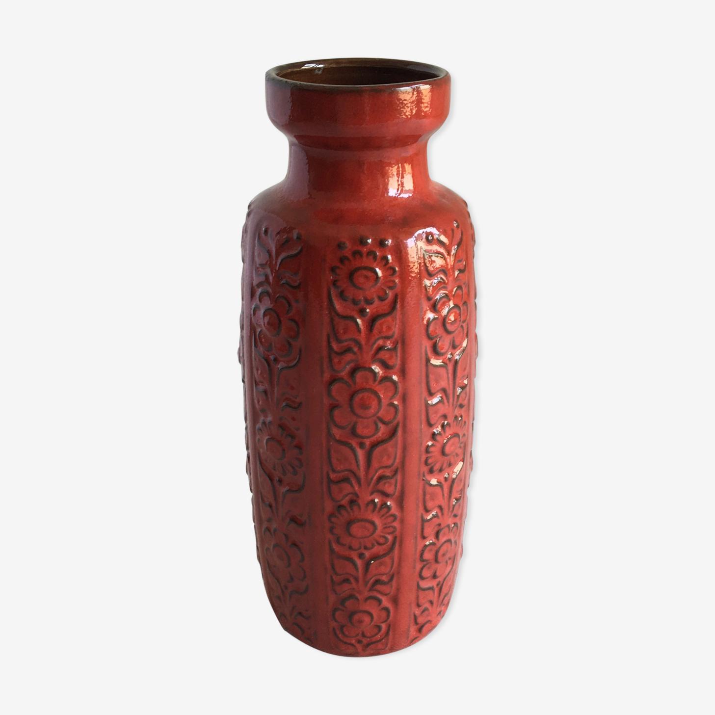 Vase Fat Lava ceramic, 1970