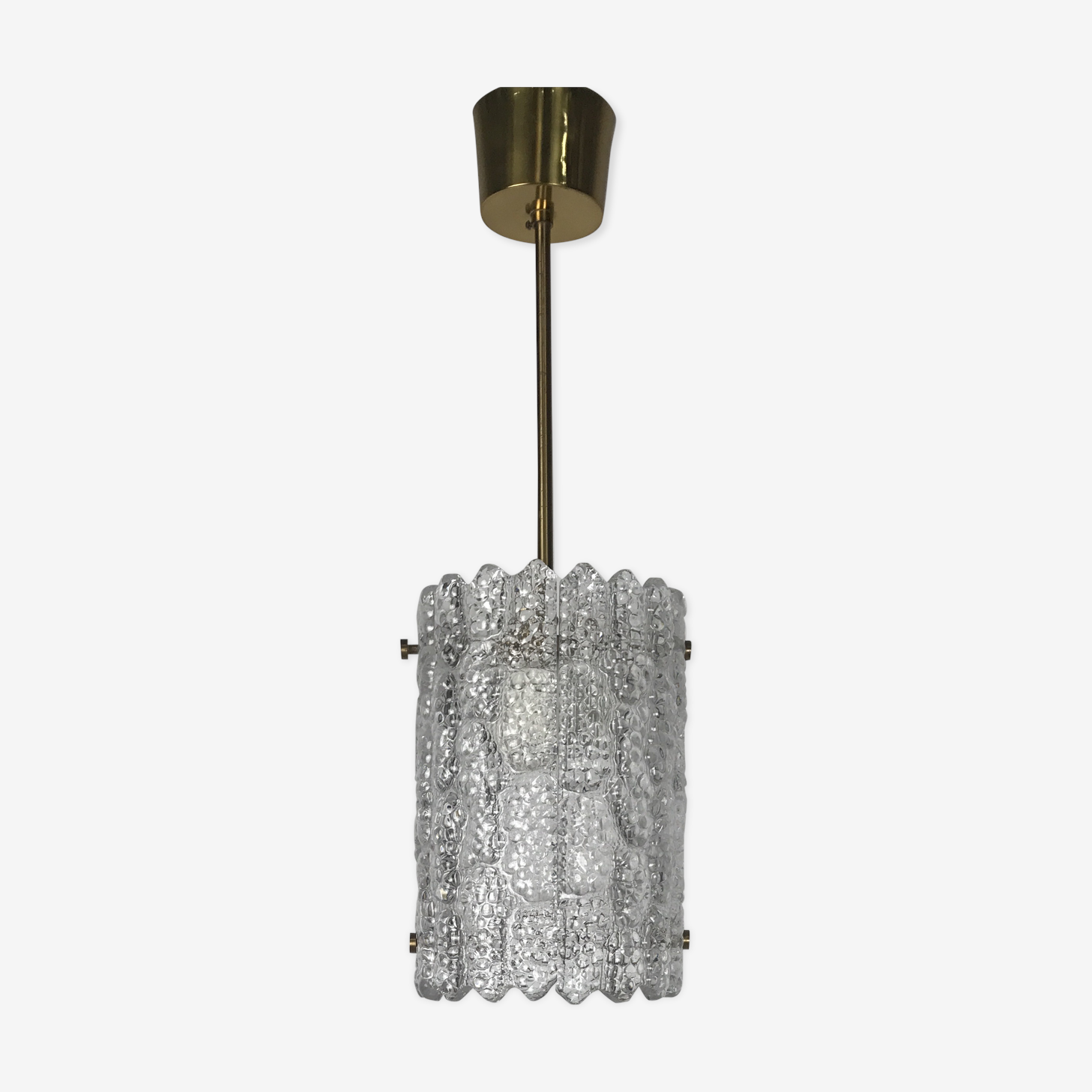 Crystal hanging lamp, Carl Fagerlund For Orefors, Sweden 70s