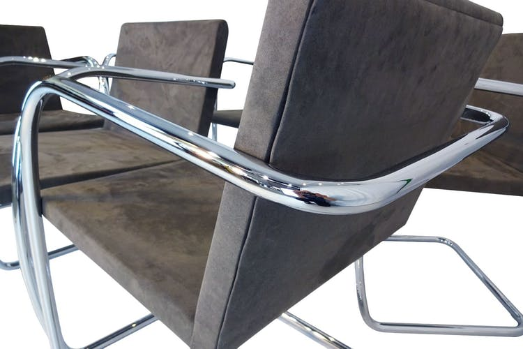 MR50 Brno chairs by Ludwig Mies van der Rohe for Knoll international 1980s