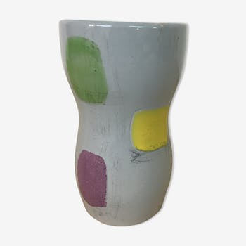 Colorful 1970 vintage vase
