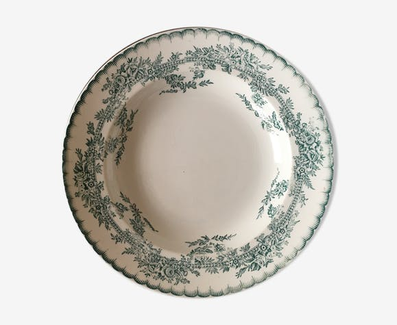 Set of 4 old plates earthenware pottery from Onnaing