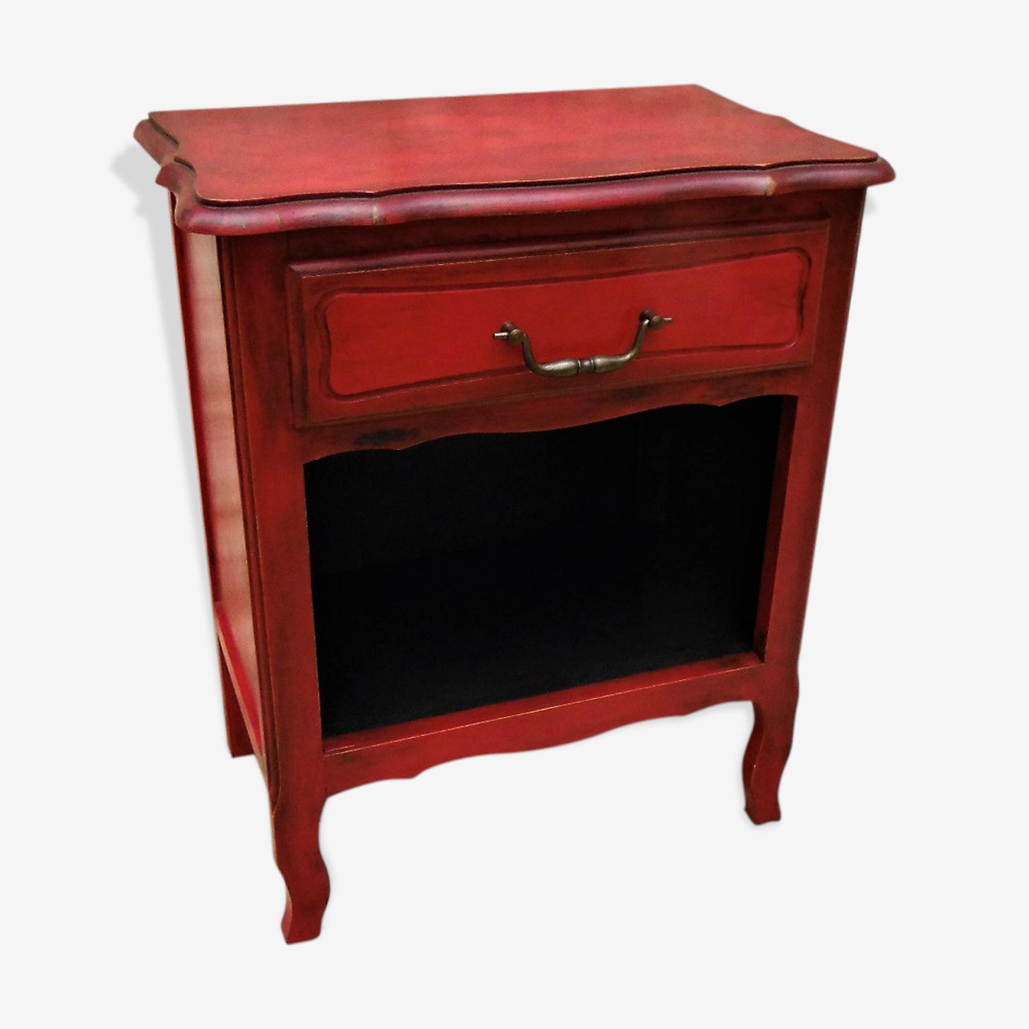 Chevet patiné rouge Emperor'silk