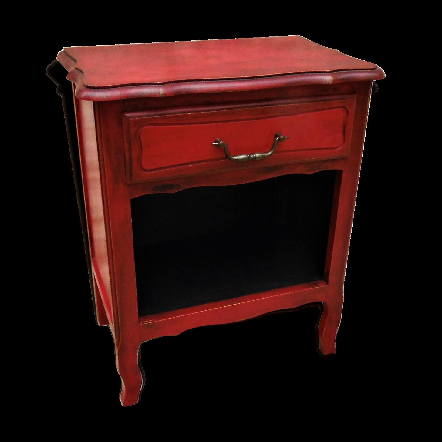 chevet-patine-rouge-emperor-silk_original Luxe De Fabriquer Table Basse Tactile Schème