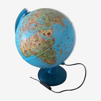 Globe Terrestre Vintage Doccasion Carte Géographique