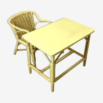 Child desk and Chair of the 1960s vintage