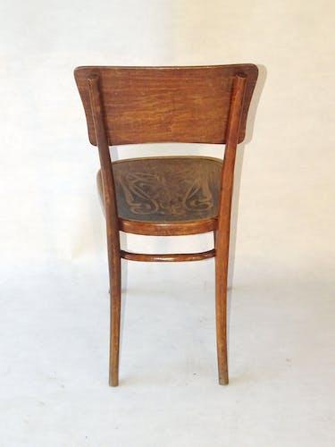 Chaise Thonet N°57 assise Art nouveau, vers 1910
