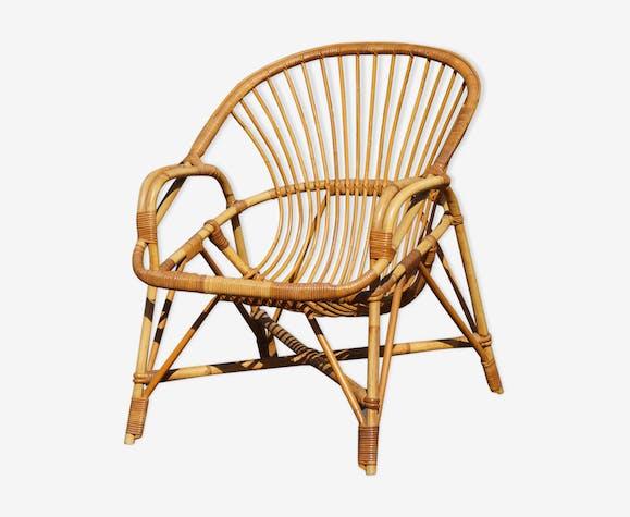fauteuil rotin vintage adulte - Fauteuil Rotin Vintage