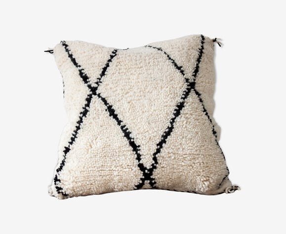 Coussin marocain Beni ouarain «minimaliste»