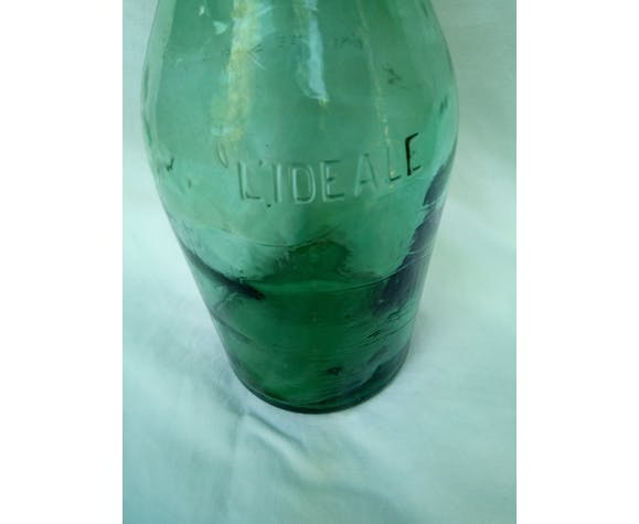 Old glass bottle porcelain cap, 2 liters