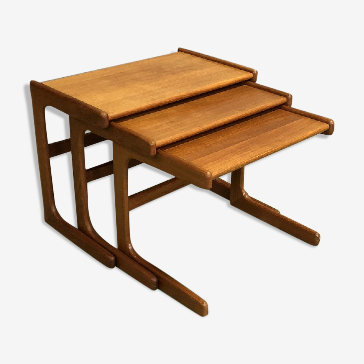 70s teak pull-out tables