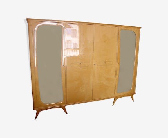 Armoire vintage en érable, années 50