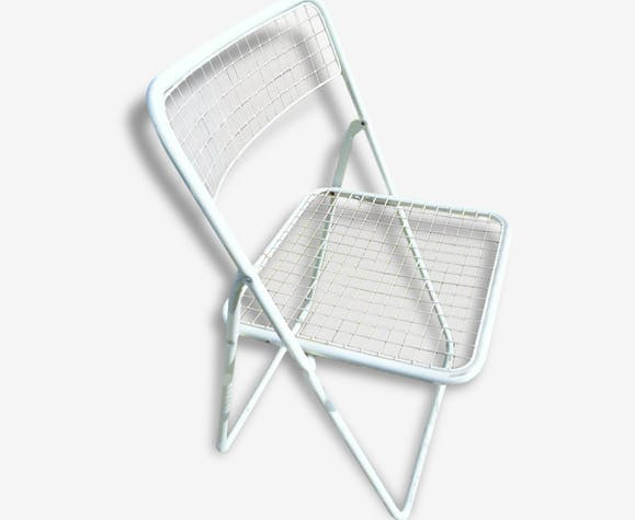 Chaise Pliante Mtal Blanc Seventies