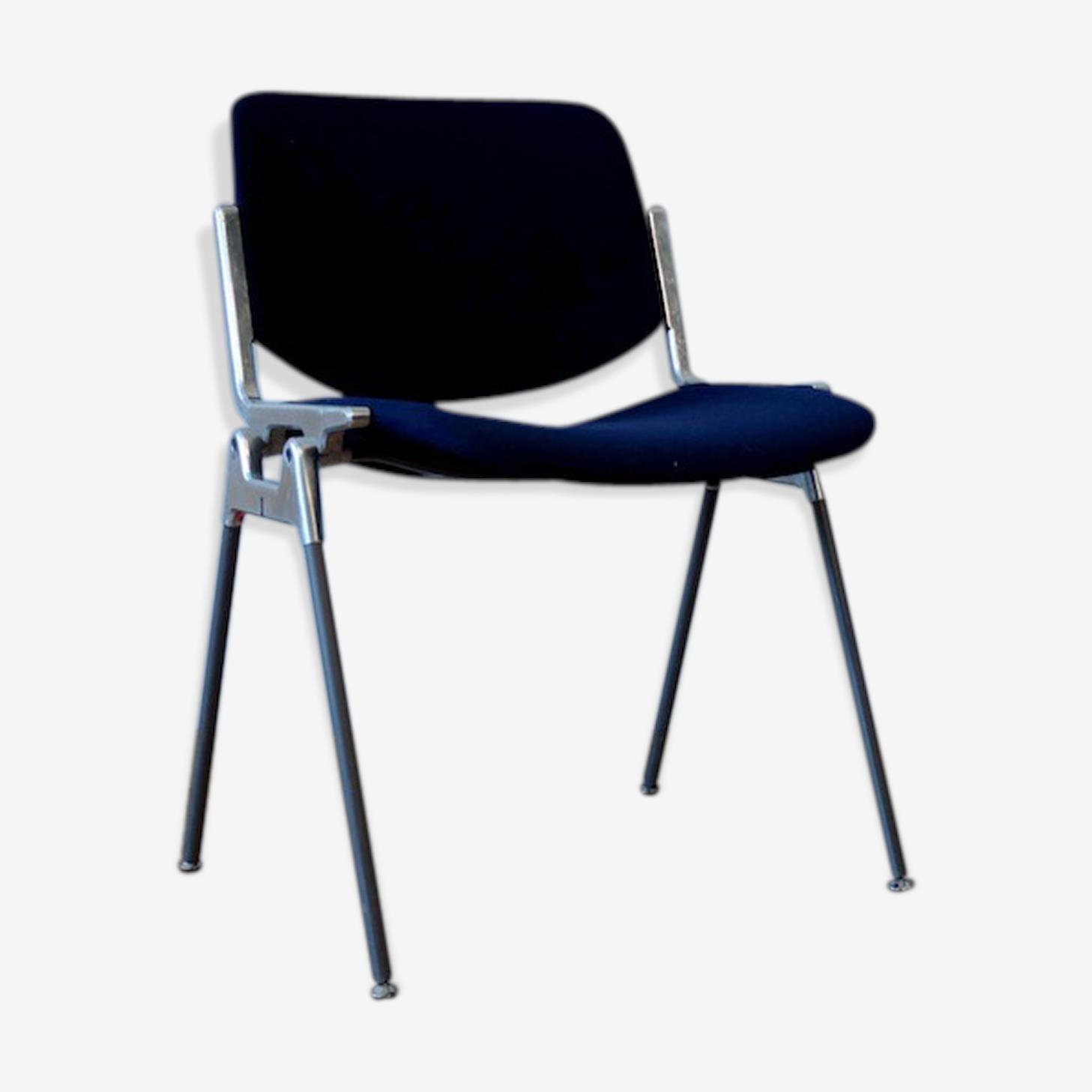 Chaise DSC 106 tissu bleu de G. Piretti pour Castelli - Circa 60
