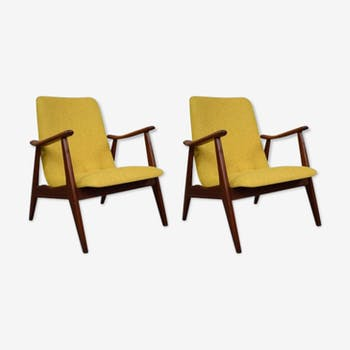 Pair of armchairs by Louis Van Teeffelen for Webe 60s