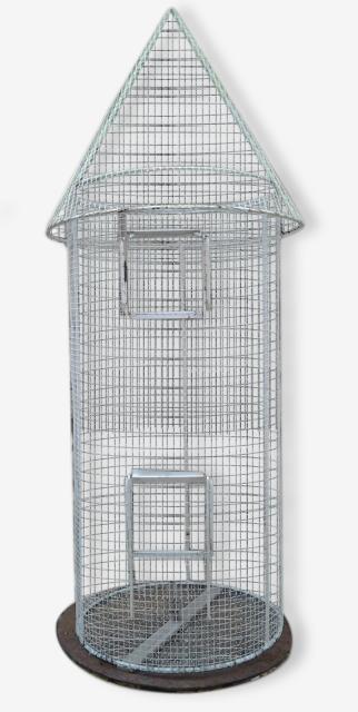 Cage Oiseaux perroquet - brocante et décoration An.50