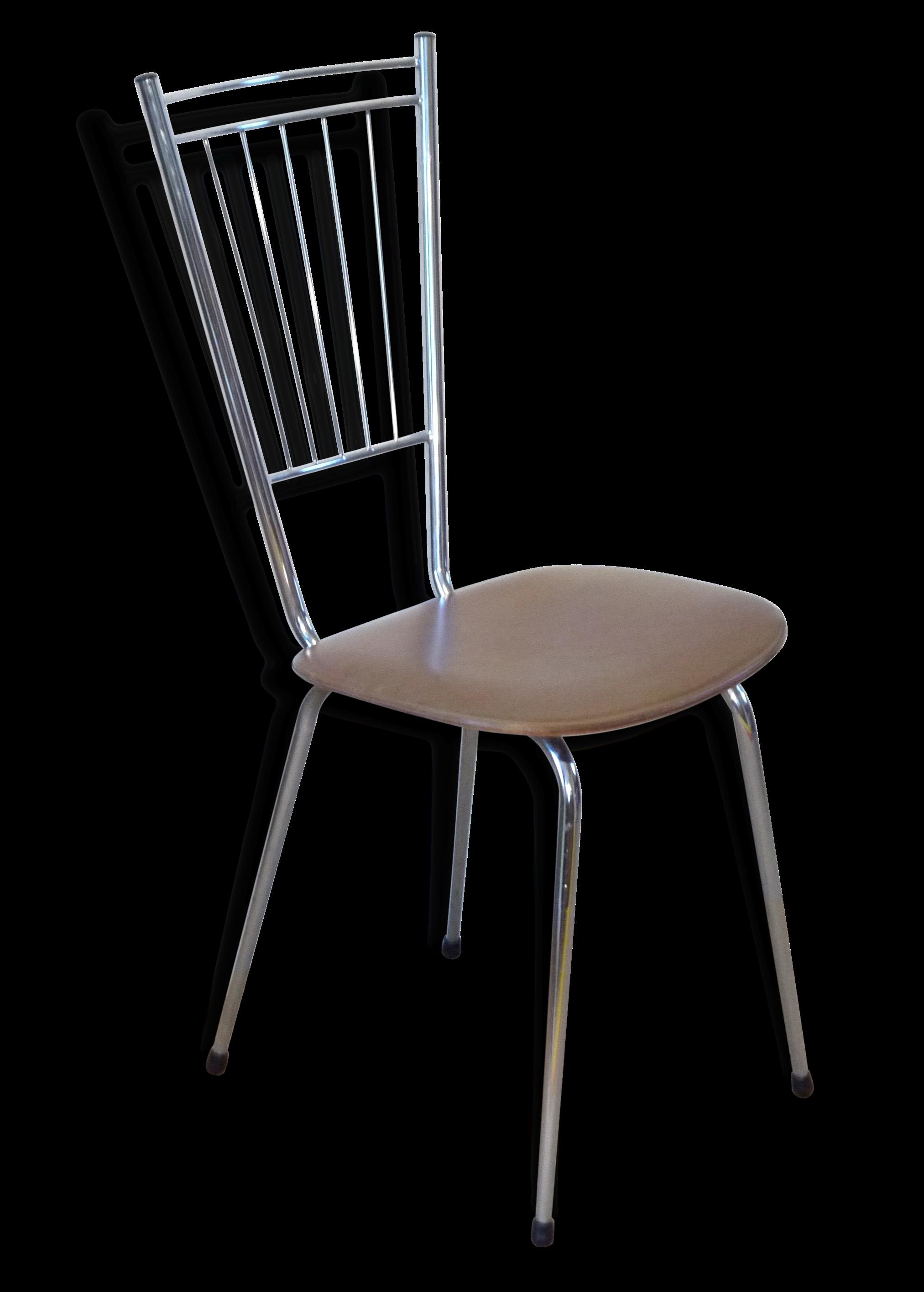 chaise-vintage-haut-dossier-en-metal-chrome-annees-60_original Meilleur De De Tabouret De Bar Sans Dossier Conception