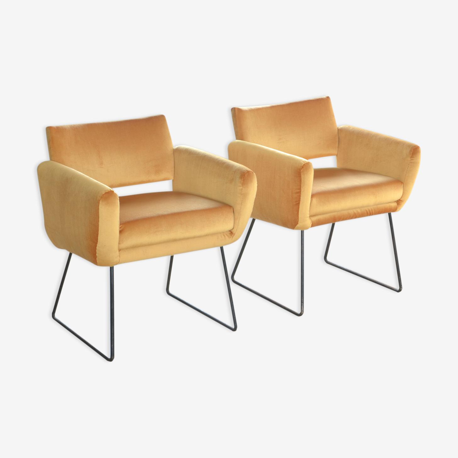 "2 armchairs ""763"" Joseph-André Motte Steiner 1956"