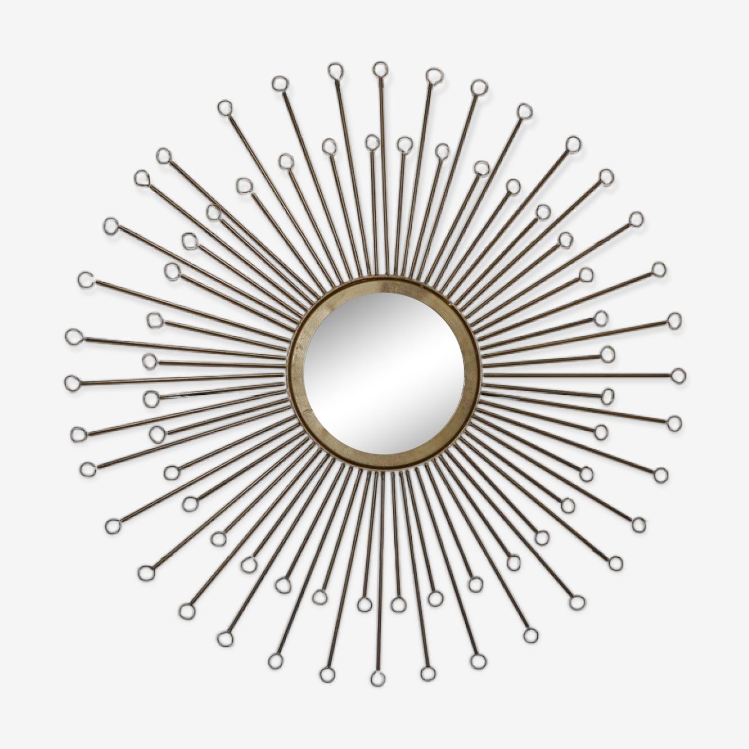 Sun brass mirror 57cm