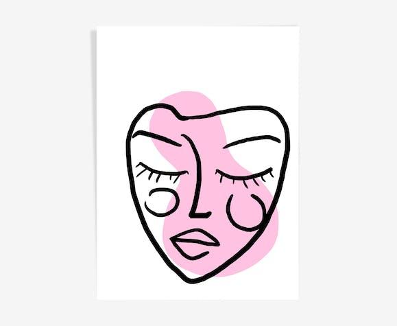 Illustration Visage pink