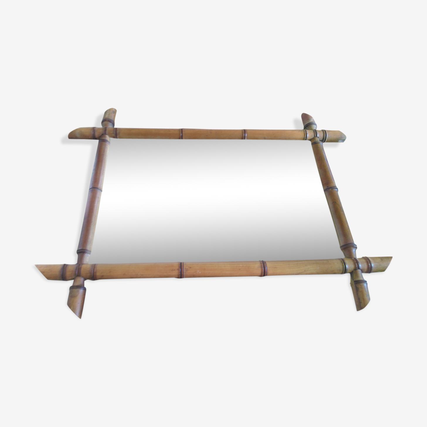 Miroir rectangulaire bambou 57x43cm