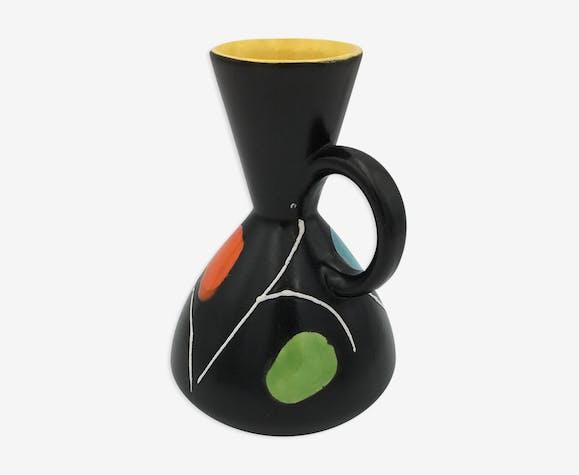 Vase vintage en céramique , signé ELISE - Années 1960