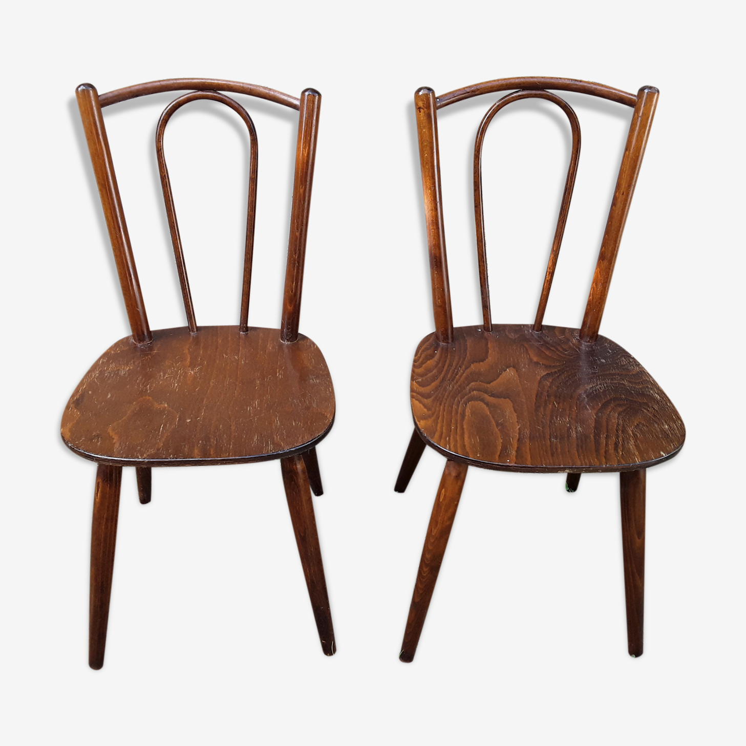Two scandinavian style bistro chairs