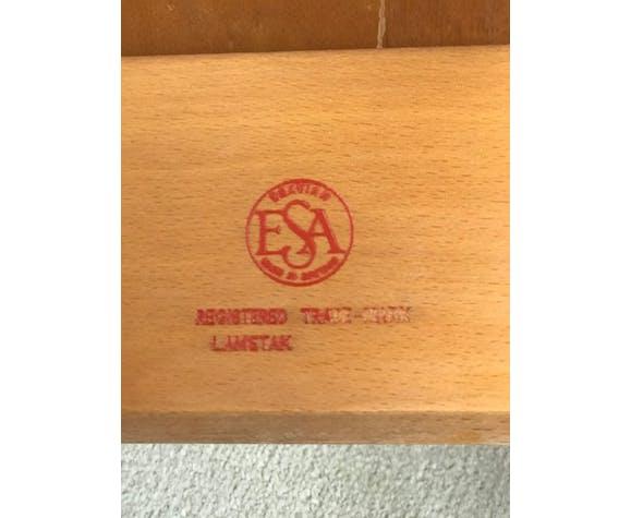 Chaises d'école ESA faites en hêtre dans les années 60