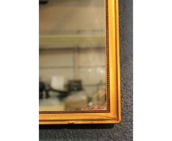"""Golden wall mirror """"Vertical"""" early 20th century 101x37,5cm"""