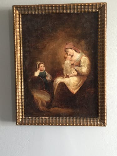 Ancient 19th century painting