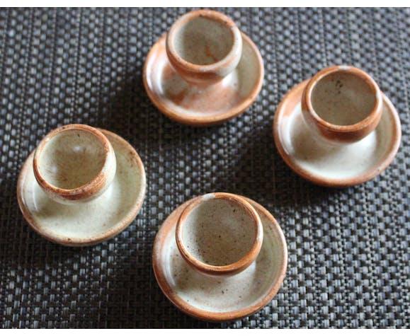 Set de 4 coquetiers en céramique